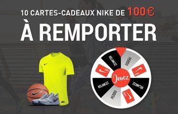 10 Cartes-Cadeaux Nike de 100€ à remporter!