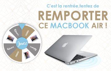 C'est la rentrée, tentez de remporter un Macbook Air!