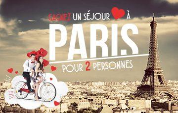 4 séjours pour deux personnes à Paris à remporter !