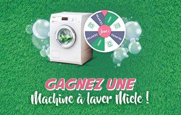 Tentez de remporter une machine à laver !