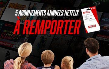 Tentez de remporter un abonnement annuel Netflix!