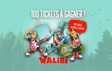 100 tickets pour Walibi à gagner!