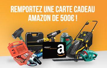 Remportez une carte cadeau Amazon de 500€!