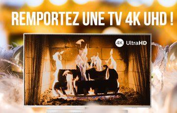 Remportez un SmarTV 4K UHD !