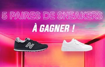 5 paires de sneakers à gagner avec Jeux Concours Online !