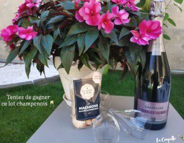 jeu concours online champagne Ellner et macarons