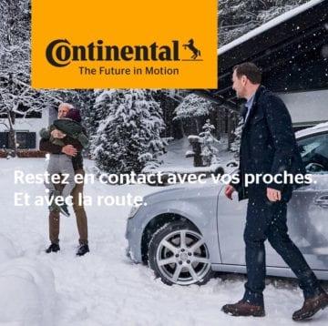 4 pneus hiver Continental - Pneus Soret