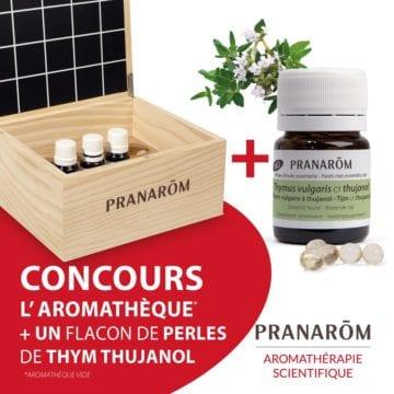 Aromathèque + perles thym Pranarom
