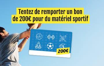 Tentez de remporter 200€ de matériel sportif !