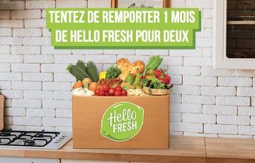 Remportez 1 mois de Hello Fresh !