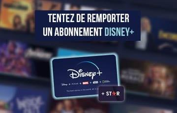 Concours – Remportez 1 an Disney+ et Star
