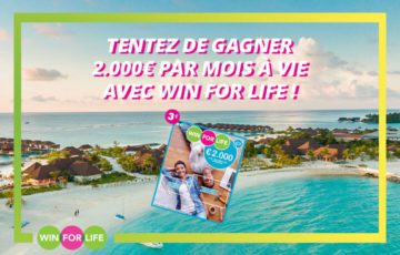 1 ticket Win For Life par semaine !